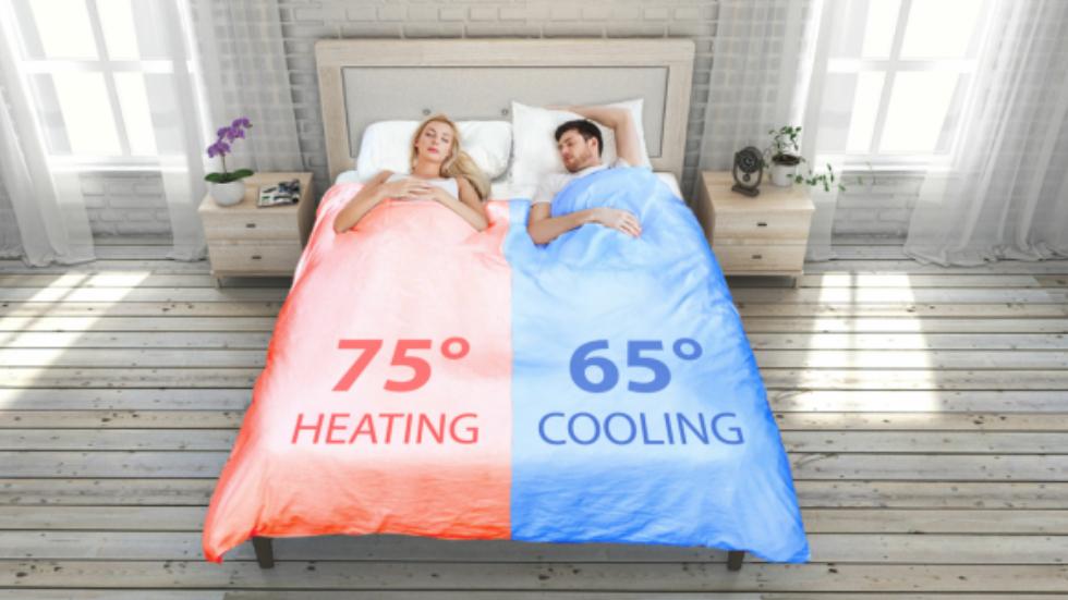SmartDuvet Breeze різна температура в одному ліжку