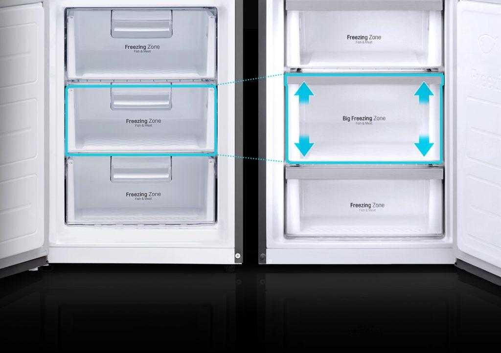 Збільшений бокс морозильної камери / LG GW-B469BMJZ