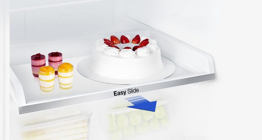 Полиця Easy Slide в холодильнику Samsung RB29FSRNDSA