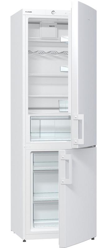 Нижнє розташування морозильної камери в холодильнику Gorenje NRK 6191 MW