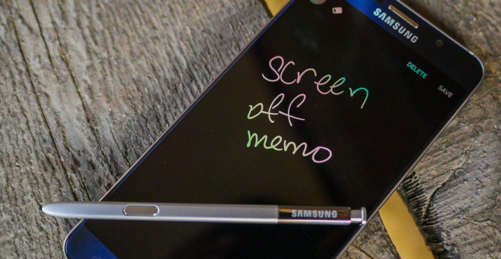 Нотатки на вимкненому екрані / Samsung Galaxy Note 5