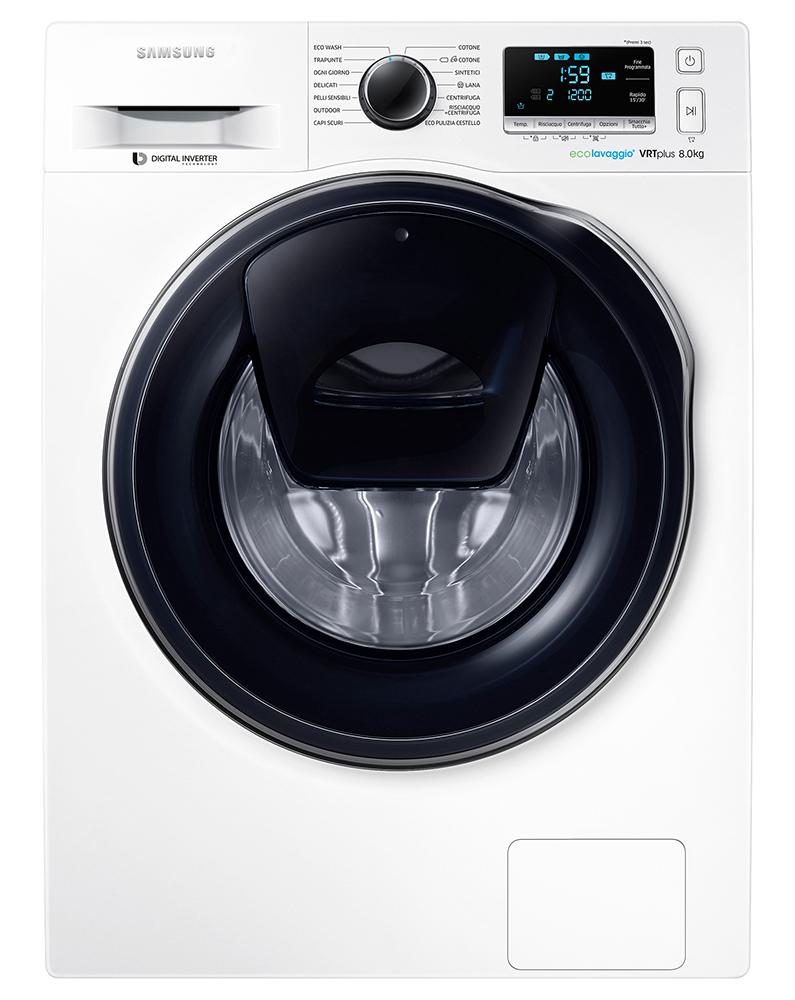 Вузька пральна машина на 8 кг / Samsung WW80K6210RW