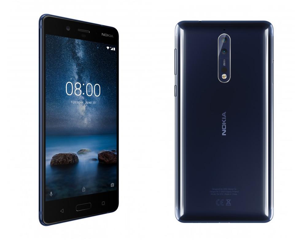 Чорний Nokia 8