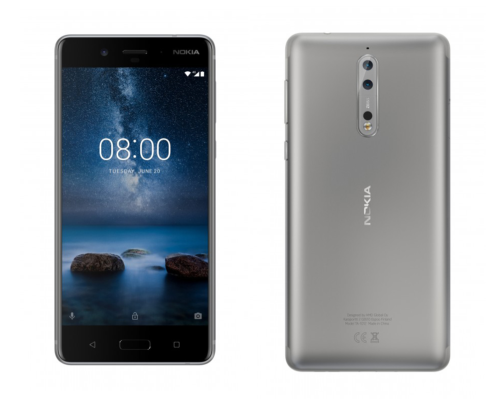 Синій Nokia 8