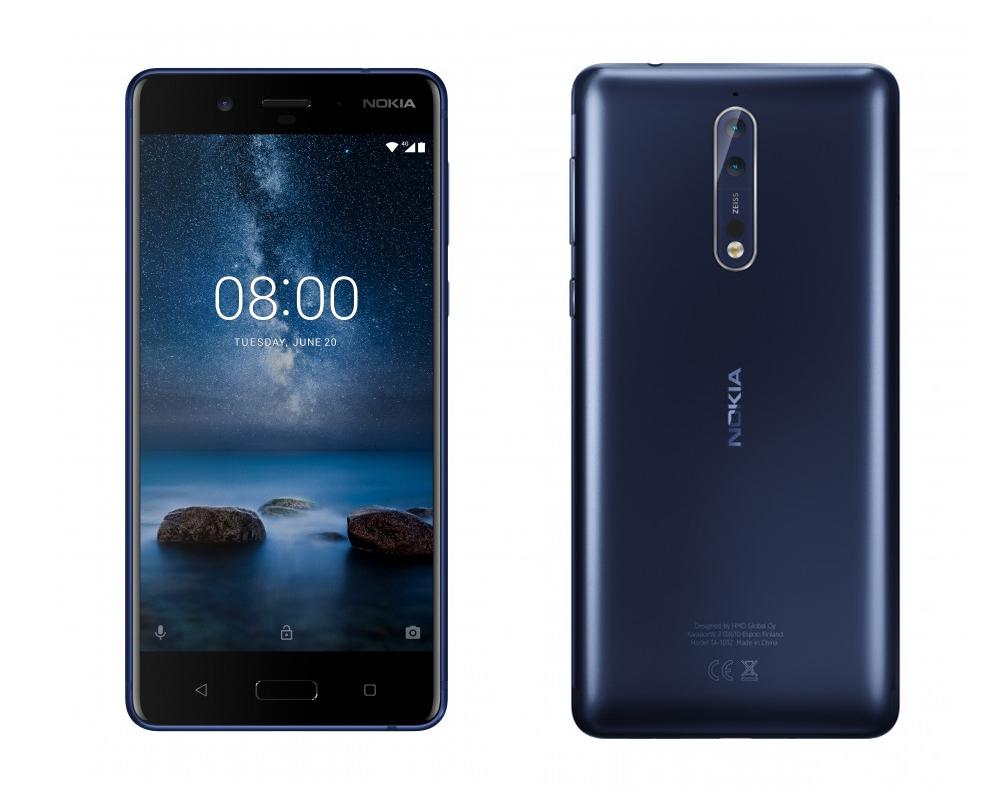 Сірий Nokia 8