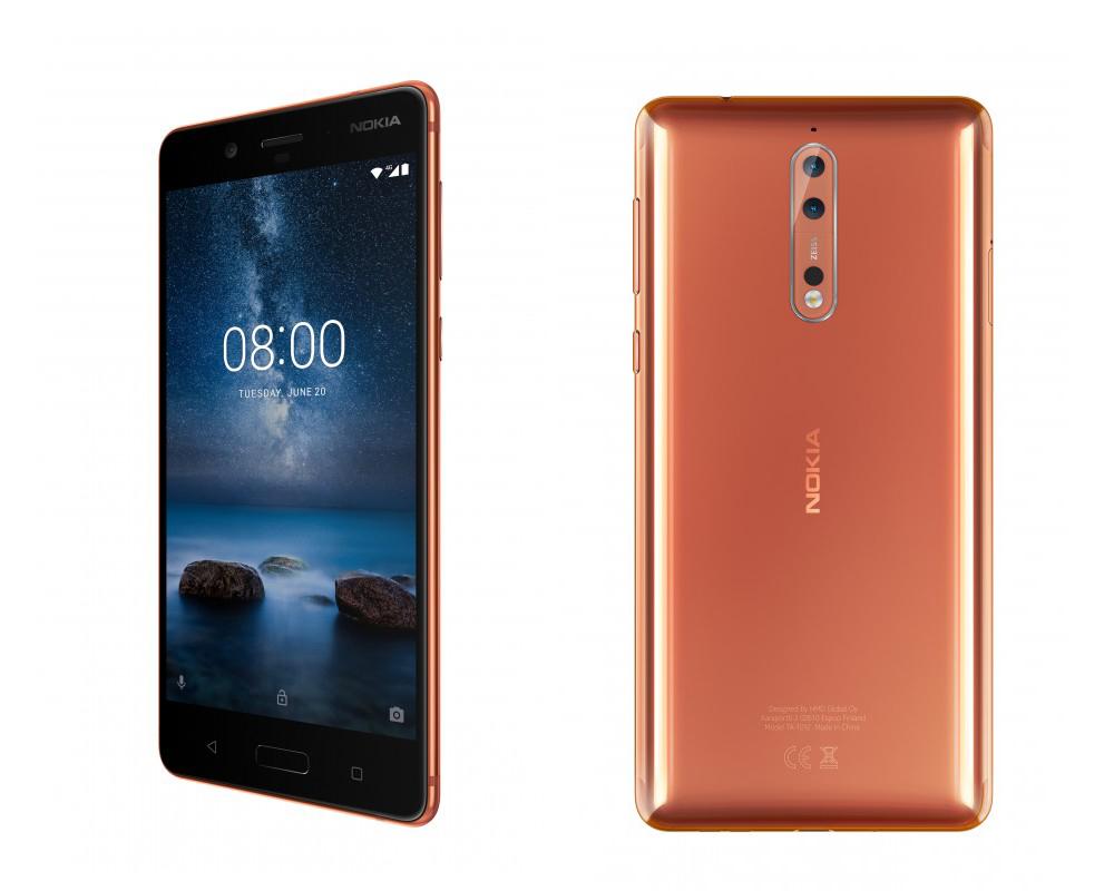 Червоний Nokia 8