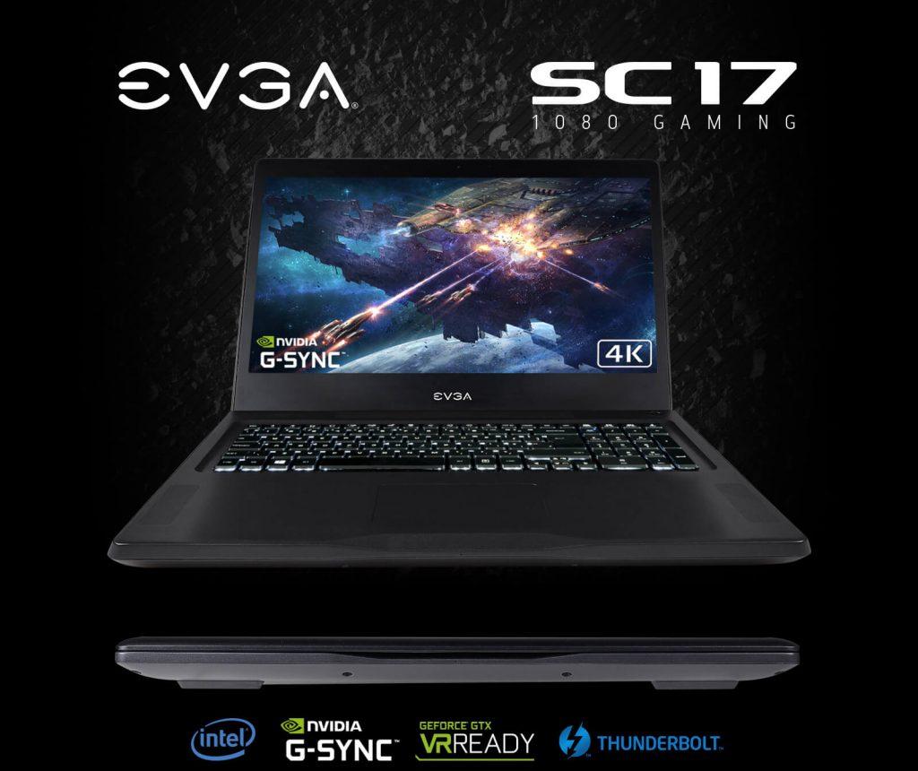 Ігровий ноутбук EVGA SC17 1080 чорний