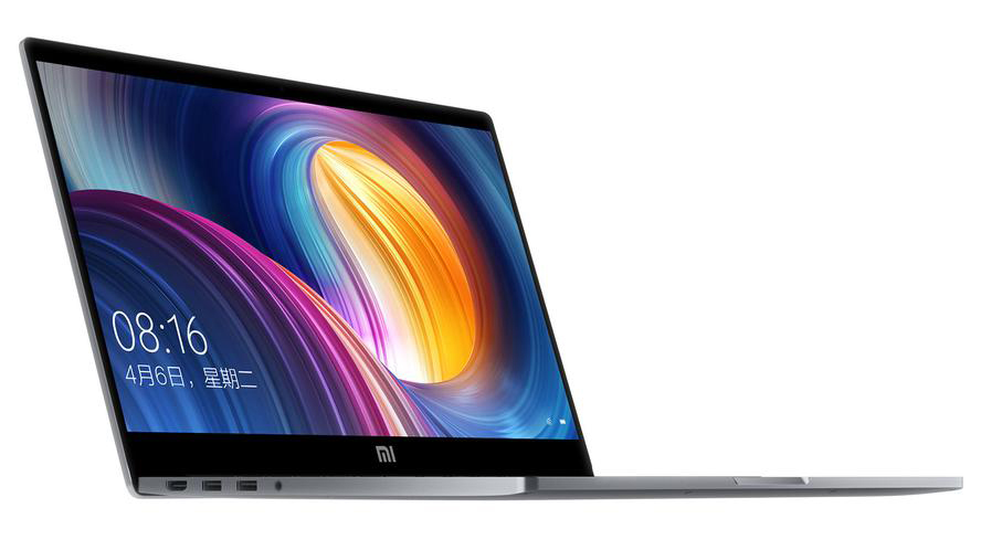 Вид спереди ноутбука Xiaomi Mi Notebook Pro