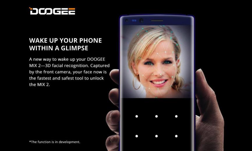 Doogee MIX 2 - 3D розпізнавання осіб