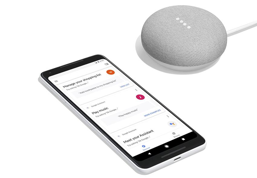 Google Pixel 2 і Google Home Max
