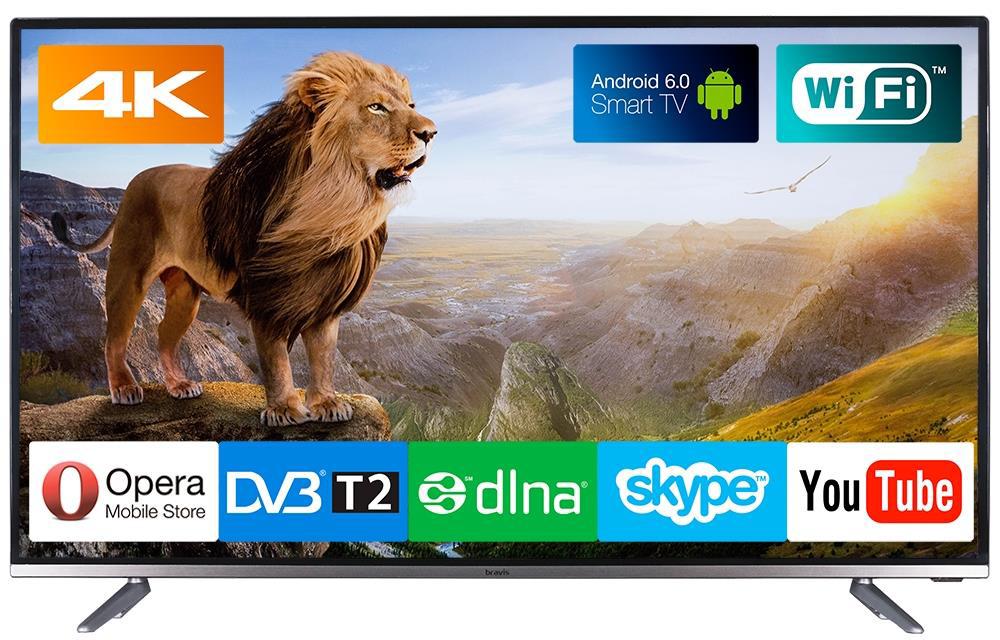 Широкий функціонал телевізора: 4k, Android