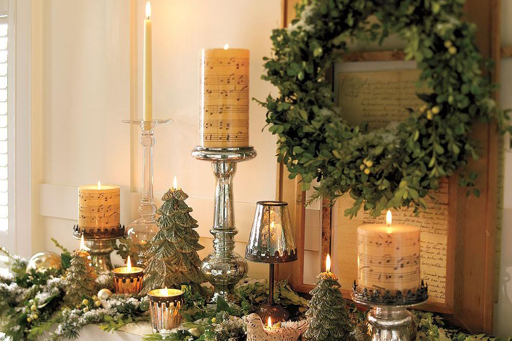 Свічки і омела