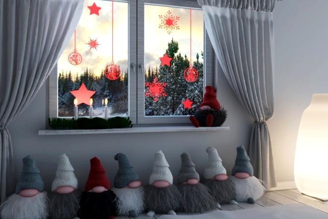 Фото декора комнаты на рождество