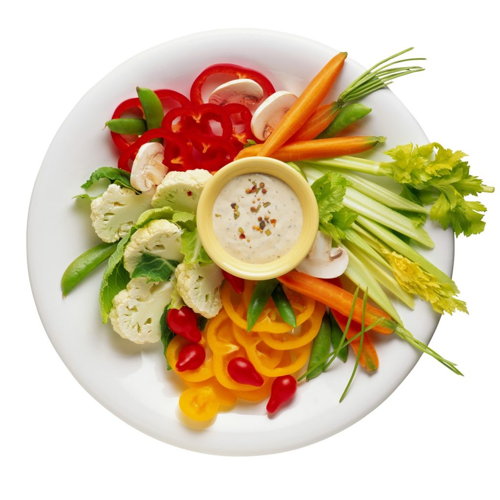 Тарілка з овочами