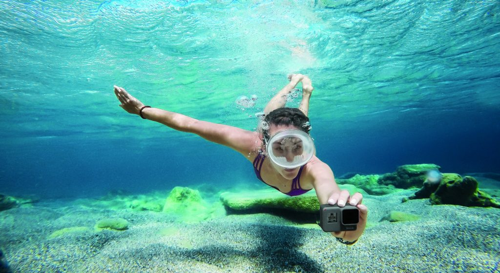 Экшн-камера под водой