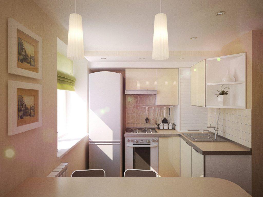 Однотонна біла кухня - фото