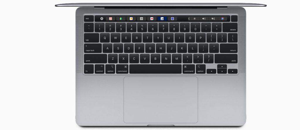 MacBook Pro 13 вид сверху
