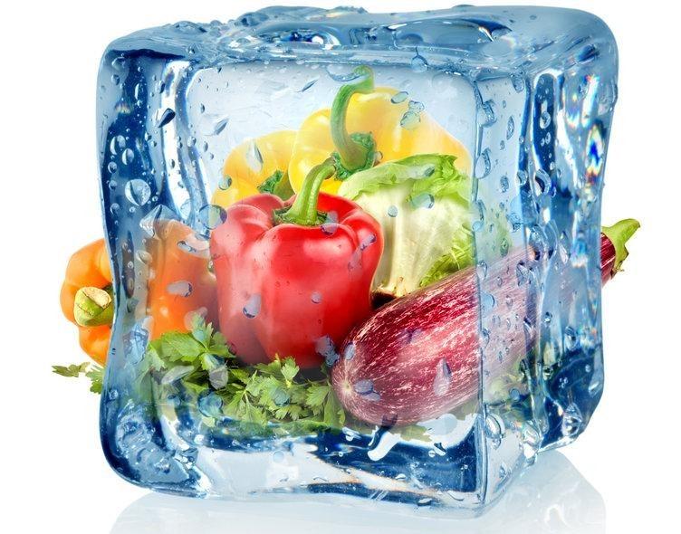 Свежие продукты после заморозки