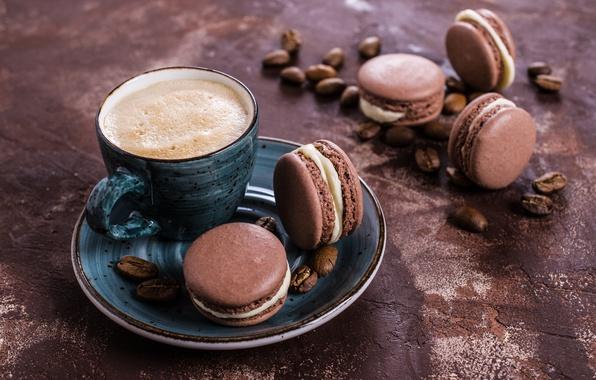 Кофе по-французски с печеньем